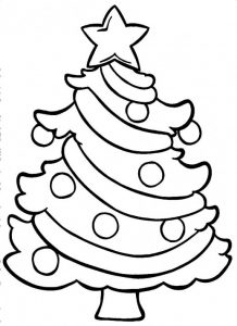 christmas tree printable small christmas tree coloring pages