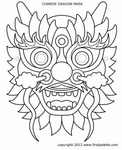 christmas tree printables dragon mask pattern