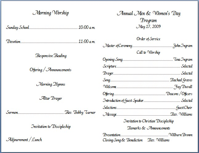 church bulletin templates microsoft publisher