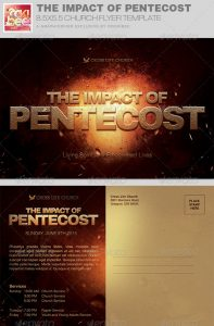 church flyers backgrounds the impact of pentecost church flyer invite template image preview