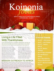 church newsletter templates merry christmas and happy new year