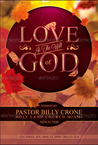 church revival flyer love is the will of god church flyer template preview