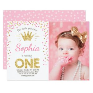 cinderella birthday invitations first birthday invitation princess gold pink rfcdcabdefca gduf