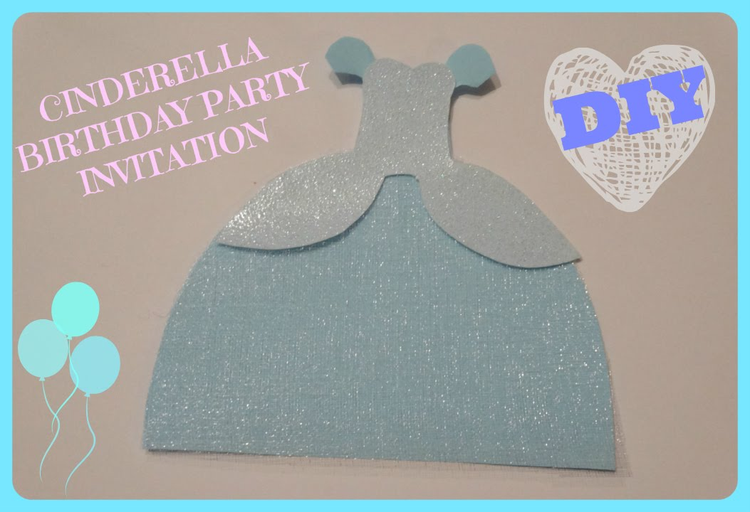 Cinderella Birthday Invitations Template Business