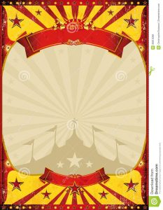 circus poster template chapiteau d affiche de vintage de cirque