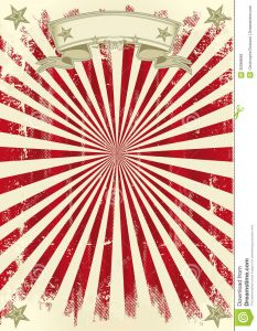 circus poster template vintage red sunbeams background your poster