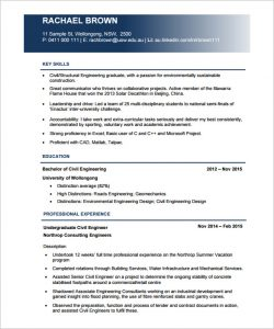civil engineer resume civil engineer resume pdf template download