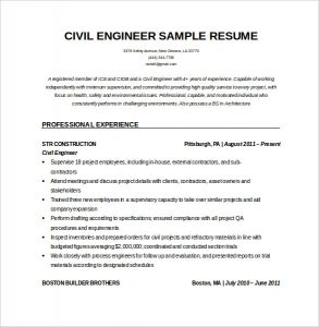 civil engineer resume editable resume for civil engineeer in word doc download
