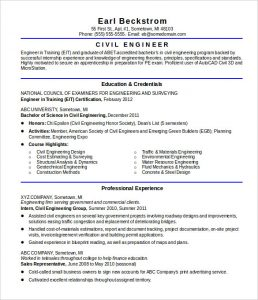 civil engineer resume sample resume civil engineer entry level template download