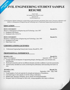 civil engineering resume civil engineer resume example