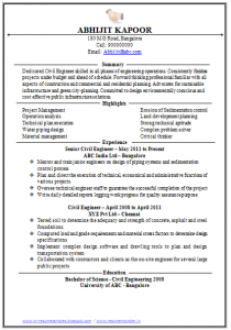 civil engineering resume civil engineer resume sample()