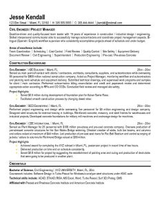 civil engineering resume civil engineering resume template
