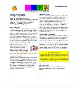 class newsletter template classroom newsletter format