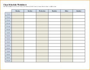 class schedule templates class schedule template