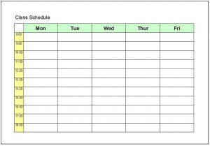 class schedule templates classscheduletemplate