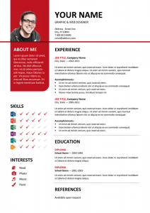 classic resume template bayview resume resume red