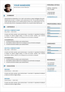 classic resume template gastown editable professional resume template