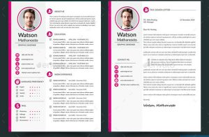 classic resume template resume cover letter indesign
