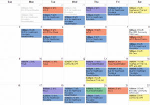 classroom schedule template calendar