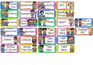 classroom schedule template slide