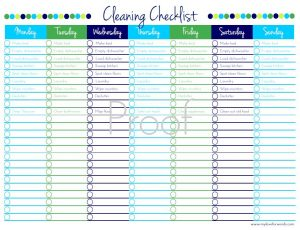 cleaners checklist templates cleaning checklist with chores watermark