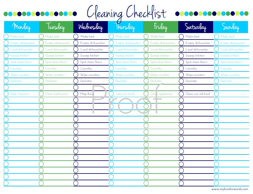 cleaners checklist templates