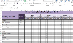 cleaners checklist templates cleaning schedule template rphuyn