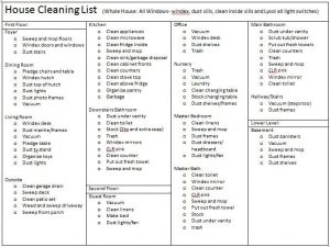 cleaners checklist templates house cleaning list template
