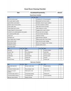 cleaning checklist template d guest room cleaning checklist