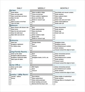 cleaning checklist template sample house cleaning checklist