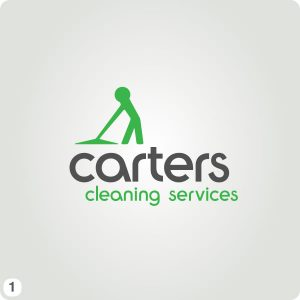 cleaning service logo cleaning character working logo green grey