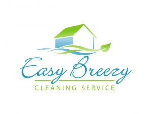 cleaning service logo easy breezy logo