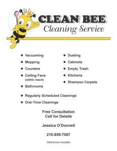 cleaning services flyers clean bee cleaning services flyer