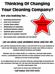 cleaning services flyers tom watson cleaning business flyer example x