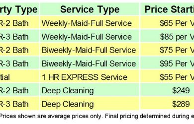 cleaning services price list template orig