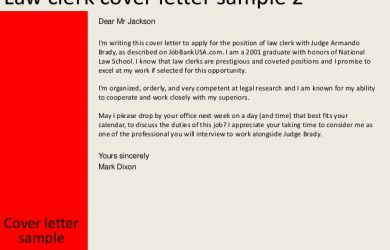 clerical cover letter law clerk cover letter