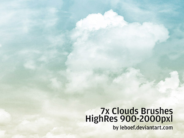 cloud brush photoshop