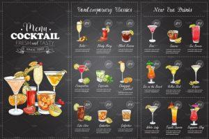 cocktail menu design cocktail menu template design