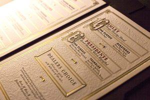 cocktail menu design noble experiment menu