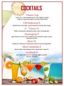 cocktail menu template fruit cocktail menu template