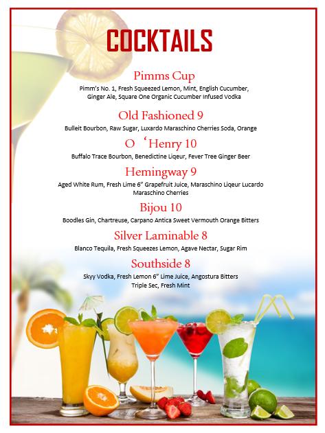 Cocktail Menu Template | Template Business