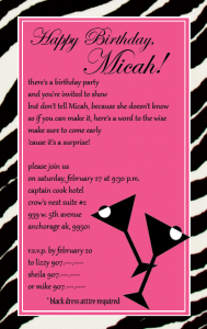cocktail party invitations micah invitationcopyblog