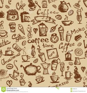 coffee bag design coffee time seamless background your design