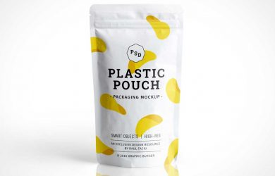 coffee bag design photorealistic plastic pouch packaging psd mockup