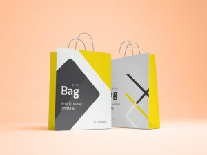coffee bag mockup free shopping bag mockup orange