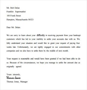 collection letter template collection letter template free