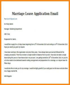 college acceptance letter sample leave application for marriage marriage leave application email
