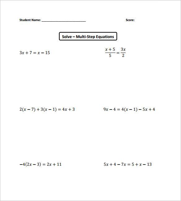 college algebra worksheet
