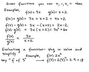 college algebra worksheet function operations