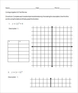 college algebra worksheets printable algebra worksheets